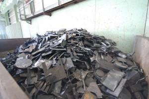 シャーリング加工後の鉄スクラップ:鋳造原料