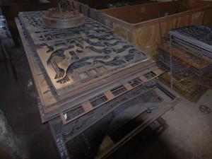 選別された鋳造原料用鉄スクラップ